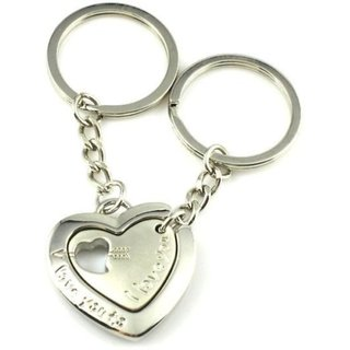 Anishop heart With frame heart Keychain - set of 2