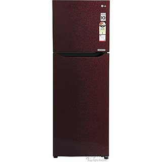LG GL-B282SWCM 255 L Double Door Refrigerator  (Wine Crystal)