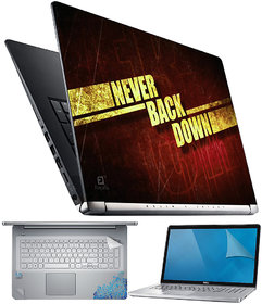 FineArts Never Back Down 4 in 1 Laptop Skin Pack with Screen Guard, Key Protector and Palmrest Skin