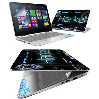 FineArts Hacker 4 in 1 Laptop Skin Pack with Screen Guard, Key Protector and Palmrest Skin