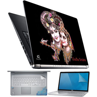 FineArts Radha Krishna 4 in 1 Laptop Skin Pack with Screen Guard, Key Protector and Palmrest Skin