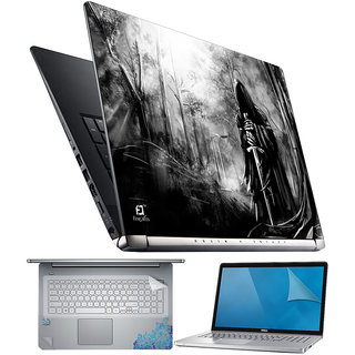 FineArts Ghost with Sward 4 in 1 Laptop Skin Pack with Screen Guard, Key Protector and Palmrest Skin