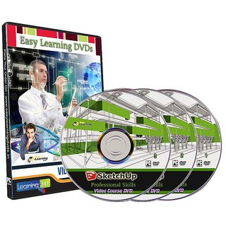 SketchUp professional Skills  techniques 12 Courses Video Training On 3 DVDs