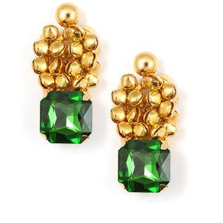 Zahra Jani Designer Green Brass Earring for Women