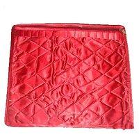Satin Red Saree Cover