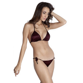 You Forever Brown Plain Lingerie Set