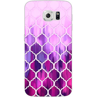Jugaaduu Pink Magenta Moroccan Tiles Pattern Back Cover Case For Samsung S6 Edge - J600298