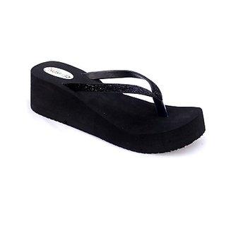 Black Gola Women Flats