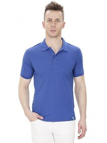 Izor Blue Polo Cotton T-Shirt For Men