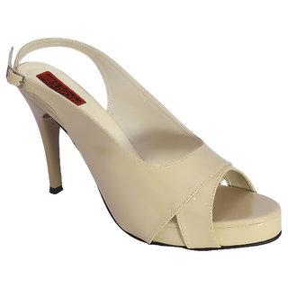 Belson Beige Heels for Women (A771Beg)