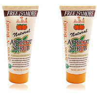 ADS NATURAL APRICOT SCRUB 50g Pack of 2 Free Liner  Rubber Band -PHSG
