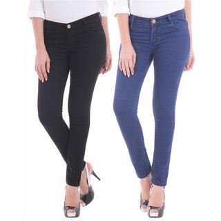 4e8b3cd0f09 Buy Mynte Skinny Fit Premium Ladies Combo Of 2 Jeans Online - Get 49 ...