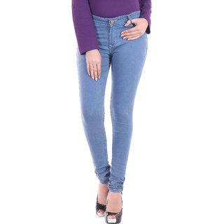 bd72cb444cf Buy MIESTILO Blue Narrow Fit Jeans for Women Online   ₹629 from ...