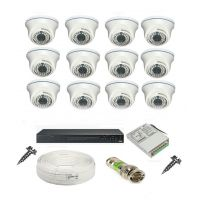 Rapter CCTV COMBO KIT, 36IR Dome Camera 12  Pcs + 16 Channel Power Supply + 16 Channel HD/AHD DVR + 90 Meter 3+1 Wire (LIMITED STOCK)