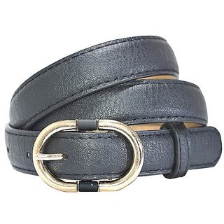 Hadwin Men Formal Synthetic Leather Black Belt