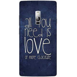 Jugaaduu Love Quote Back Cover Case For OnePlus Two - J1001328