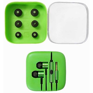 Kewin Clear Quality Earphone Plastic Box For MIee Type (Colour Green/May Very)