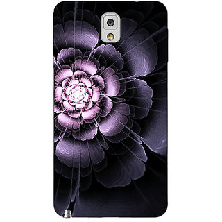 Jugaaduu Abstract Flower Pattern Back Cover Case For Samsung Galaxy Note 3 N9000 - J91518