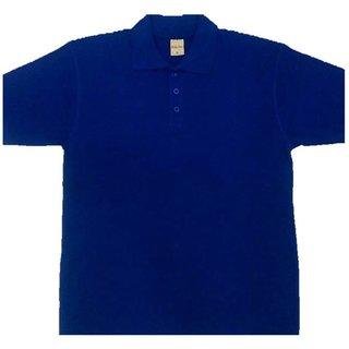 Blue Cotton Half Mens T-Shirt