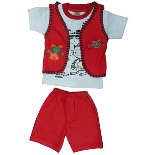 Timtom Kids Wear Boys Red Top And Bottom