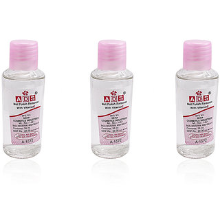 ADS NAIL POLISH REMOVER WITH VITAMIN E  Pack Of 3 Free Liner  Rubber Band -PHTU