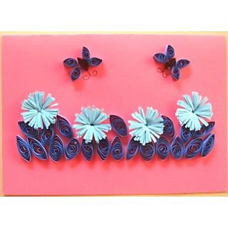 Handmade 3D Quilled Greeting Card