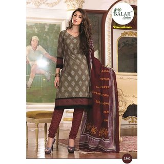 KUMKUM 7 (WITH COTTON DUPATTA) QUALITY COTTON DRESS MATERIAL (UNSTITCHED) 3303
