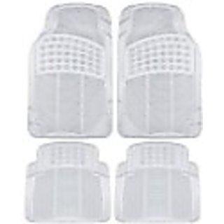 Becart Rubber Foot Mat For Tata Indigo-Transparent (white)