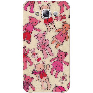 Jugaaduu Teddy Pattern Back Cover Case For Samsung A8 - J810263
