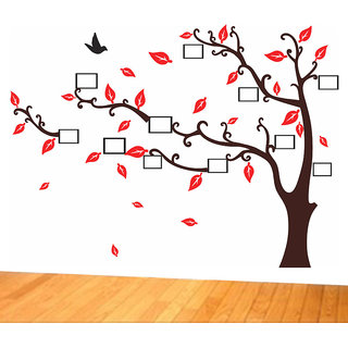 Wall Sticker -Photo Frame Brown Tree @ New Way Decals(9606)