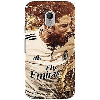 Jugaaduu Real Madrid Sergio Ramos Back Cover Case For Moto G3 - J670588