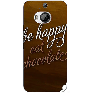 Jugaaduu Chocolate Quote Back Cover Case For HTC M9 Plus - J681330