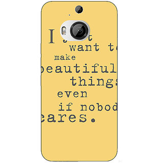 Jugaaduu Quote Back Cover Case For HTC M9 Plus - J681335