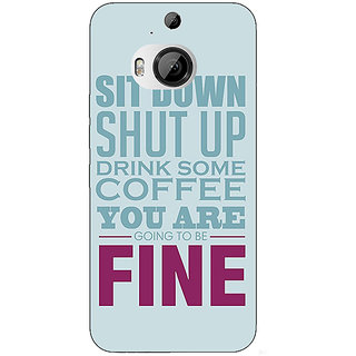 Jugaaduu Quote Back Cover Case For HTC M9 Plus - J681346