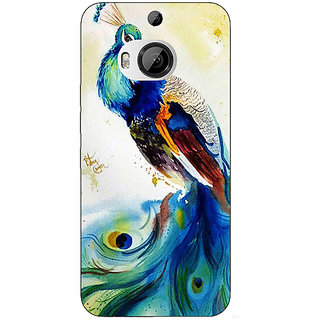 Jugaaduu Paisley Beautiful Peacock Back Cover Case For HTC M9 Plus - J681583
