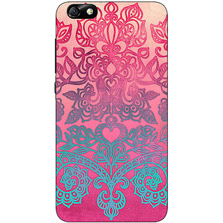 Jugaaduu Princess Pattern Back Cover Case For Huwaei Honor 4X - J690229