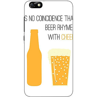Jugaaduu Beer Quote Back Cover Case For Huwaei Honor 4X - J691204