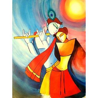 Beautiful Radha Krishna - HandMade Painting