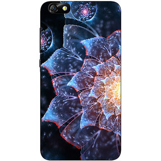 Jugaaduu Abstract Flower Pattern Back Cover Case For Huwaei Honor 4X - J691515