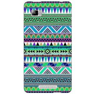Jugaaduu Aztec Girly Tribal Back Cover Case For Lenovo K910 - J710064