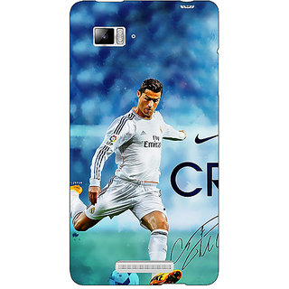 Jugaaduu Cristiano Ronaldo Real Madrid Back Cover Case For Lenovo K910 - J710313