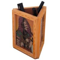 Beautiful Gemstone Painting Pen Stand Gift