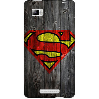 Jugaaduu Superheroes Superman Back Cover Case For Lenovo K910 - J710384