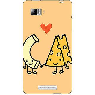 Jugaaduu Cheese Donut Love Back Cover Case For Lenovo K910 - J711133