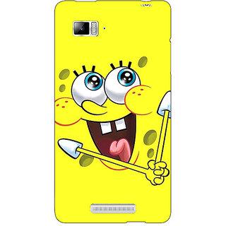Jugaaduu Spongebob Back Cover Case For Lenovo K910 - J710460
