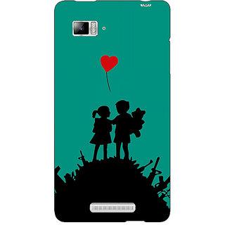 Jugaaduu Cute Couple  Back Cover Case For Lenovo K910 - J710724