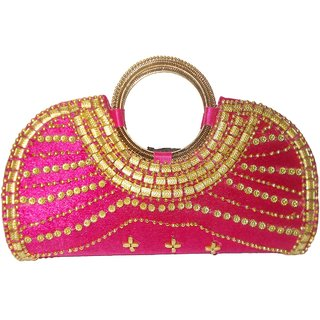 Pink Stylish Clutch