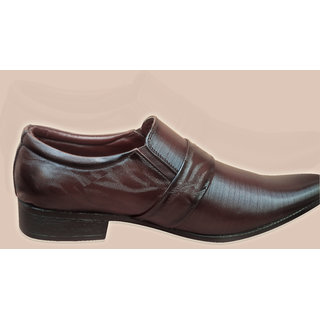 LT Brown Formal Slip On Shoe With Tpr Sole