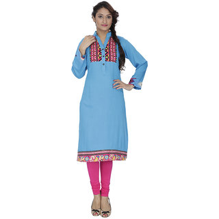 LeeZaro Sky Rayon Kurti for Women
