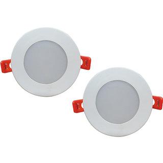 Bene LED 6w Round Ceiling Light, Color of LED White (Pack of 2 Pcs)